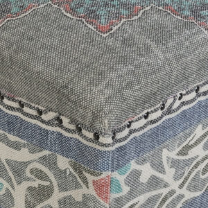 KAMALA COCKTAIL OTTOMAN: GRAY, DENIM