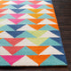 POP ANGLES WOOL RUG: ELECTRIC MULTI