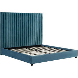 MISCHA SEA BLUE VELVET BED