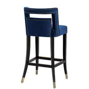 YORK NAVY VELVET COUNTER STOOL