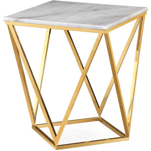 CLEO MARBLE TOP ACCENT TABLE