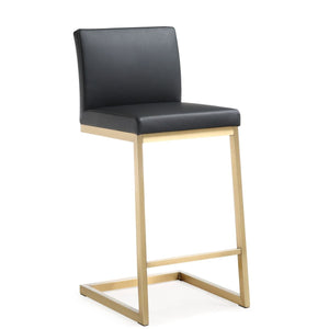 PARMA BRUSHED GOLD COUNTER STOOL | SET OF 2
