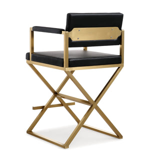 DIRECTOR COUNTER STOOL: BLACK | GOLD