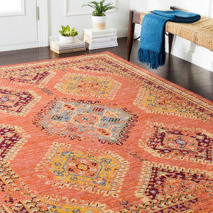 HEDDY WOOL RUG: ORANGE MULTI