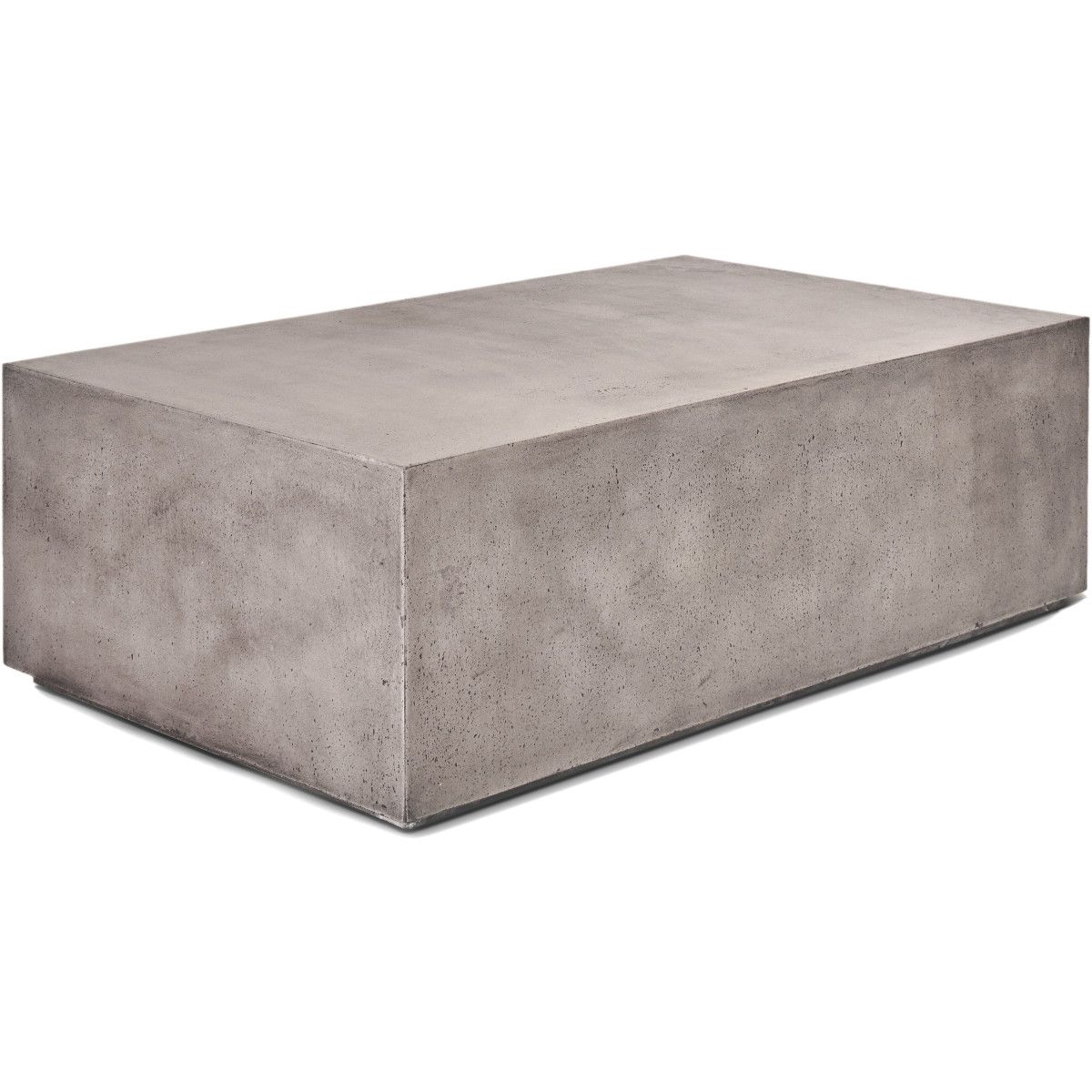 Picture of: Concrete Rectangular Block Coffee Table Dark Gray Or Ivory White Minimalist Modern The Design Tap