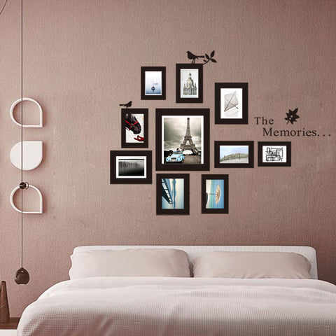 Photo Frame Photo Frame Mural DIY Picture Home 10x Decor Wall-Mounted Photo Frame Wall Stickers Bed Living Fashion Sticker