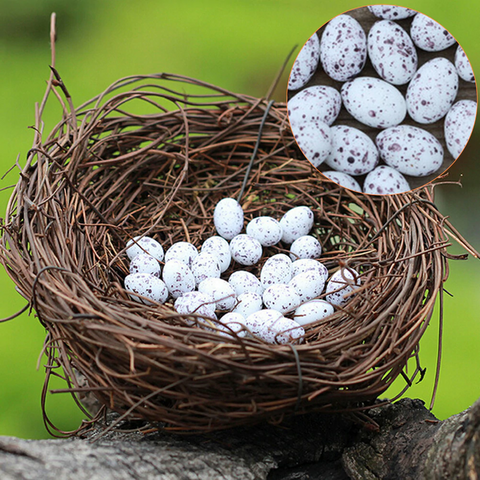 Artificial Nest And Eggs Fairy Miniatures
