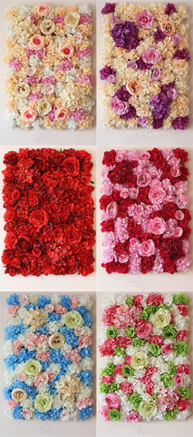 Artificial Flower Wall Rose Hydrangea Background