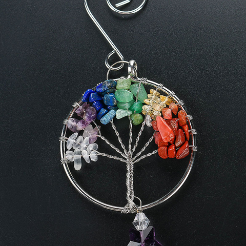 The Tree of Life Crystal Prism Ball Suncatcher