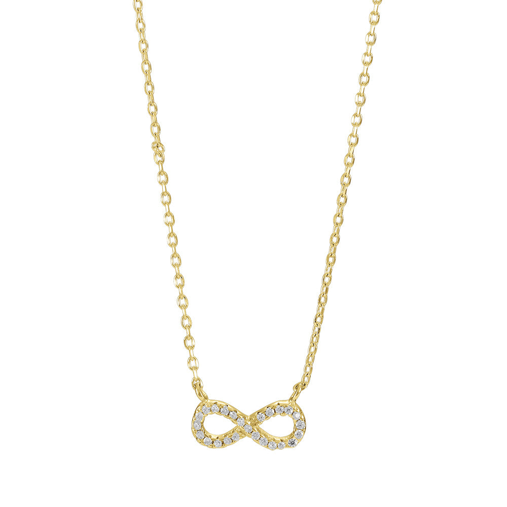 Infinity Pendant Gold and CZ