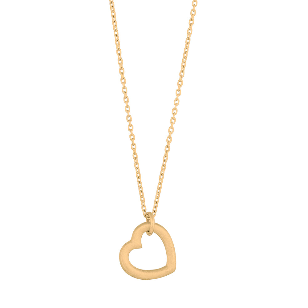 Gold plated silver Heart necklace14mm