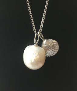 Baroque Pearl Pendant on Silver