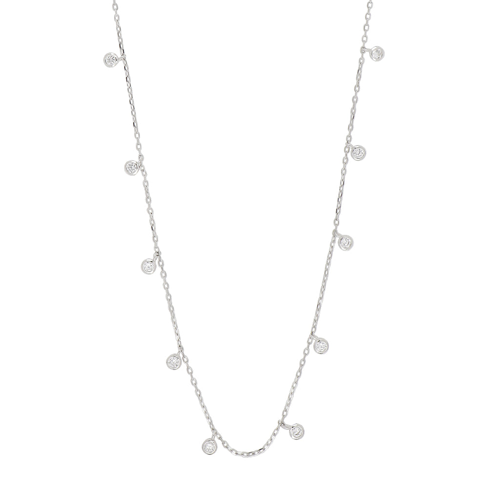 Sterling Silver Fine Sparkle Necklace and Choker