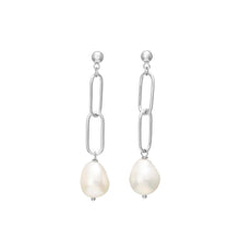 Load image into Gallery viewer, Silver Earring Baroque Freshwater Pearl 50mm