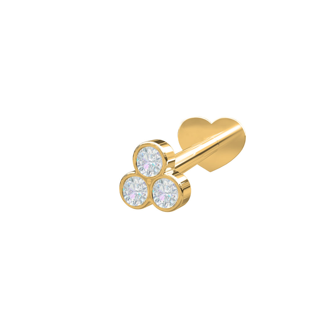 14 CT. Gold and Diamond Labrets