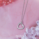 Sterling silver Heart necklace14mm