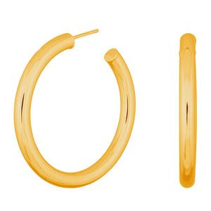 Thick Gold Hoops 40mm