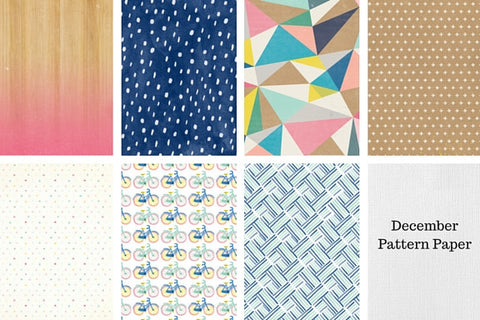 December 2015 Main Kit Pattern Paper Only