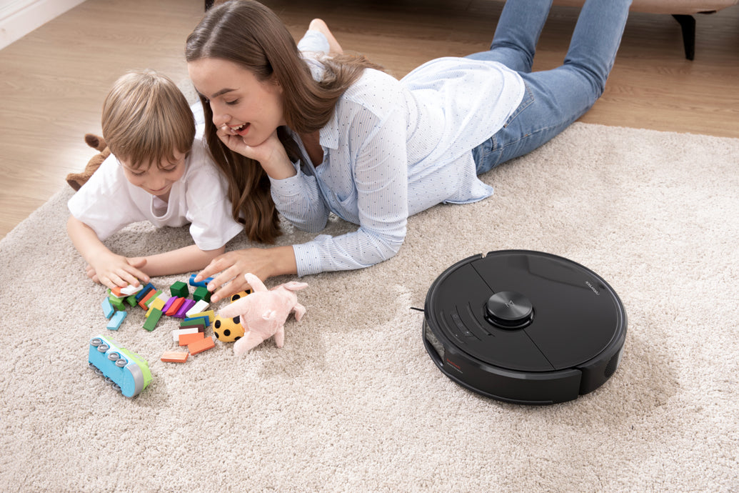 Roborock S6 MaxV 2500Pa suction pulls dirt and allergens from carpets