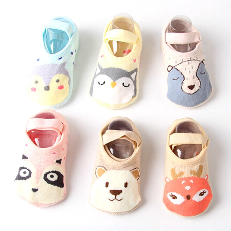 Cute Cartoon Cotton Baby Foot Socks - Unico shop co