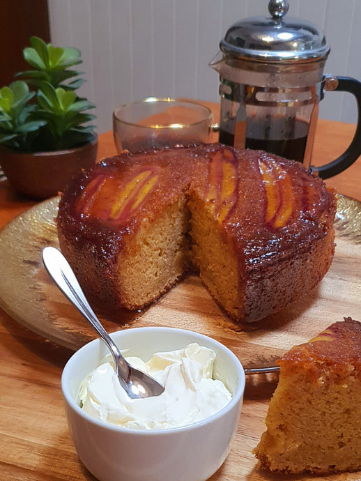 Manuka Honey & Banana Upside Down Cake
