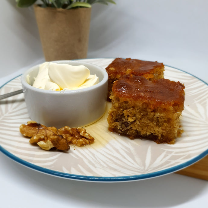 Manuka Honey & Walnut Cake