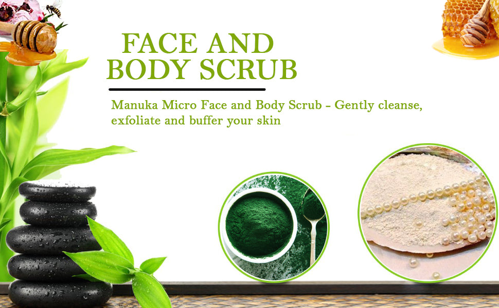 MANUKA MICRO FACE AND BODY SCRUB - will be back in stock very soon