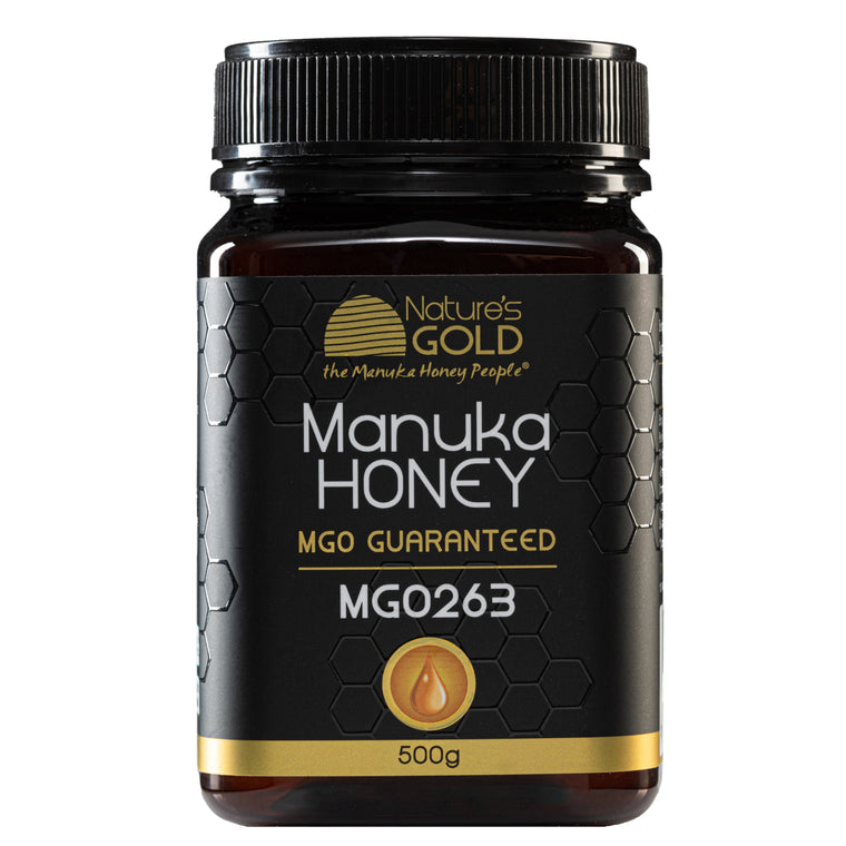 500g size - 100% Raw Australian Manuka Honey - strengths MGO 30, 83, 263, 514 and 829