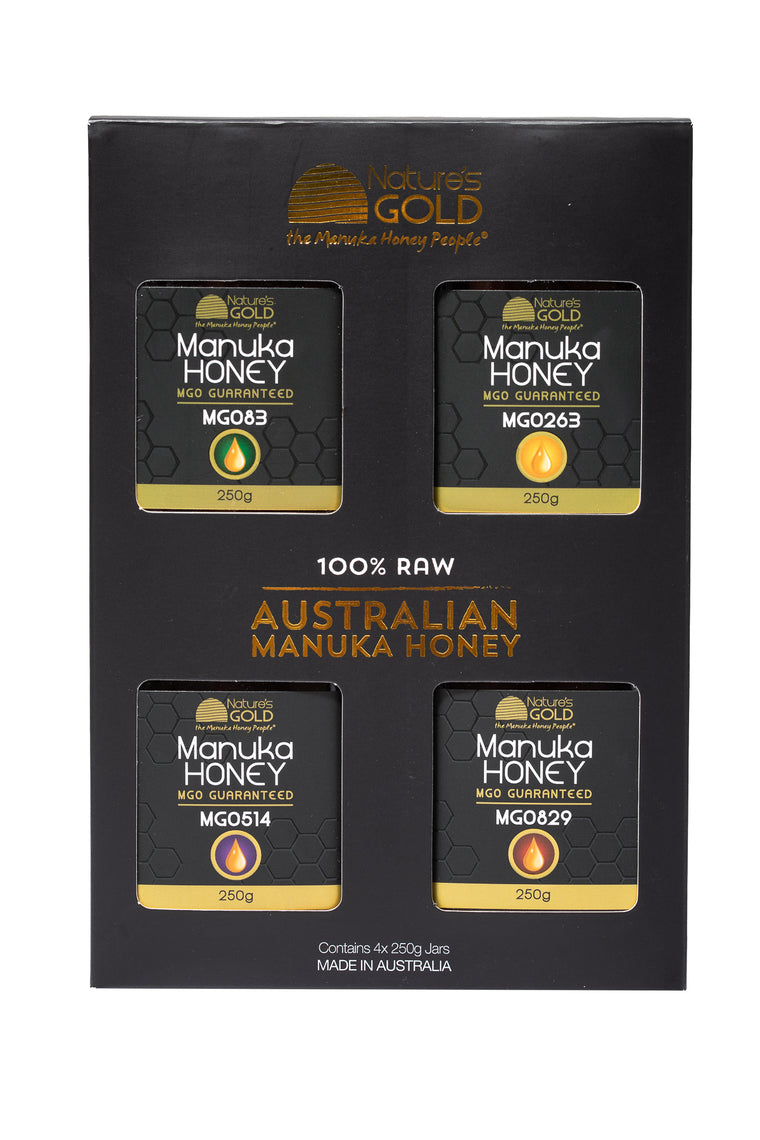 GIFT PACK - Australian Manuka Honey x MGO 83, 263, 514 and 829