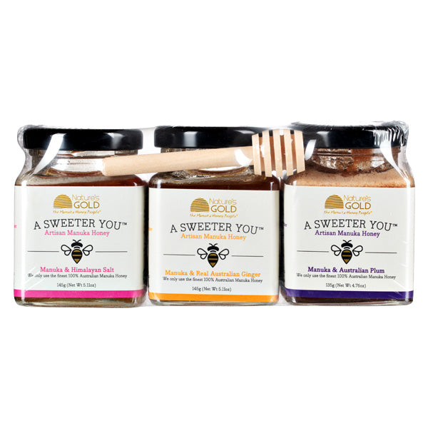 GIFT PACK - Australian Manuka Honey and Ginger, Salt and Plum
