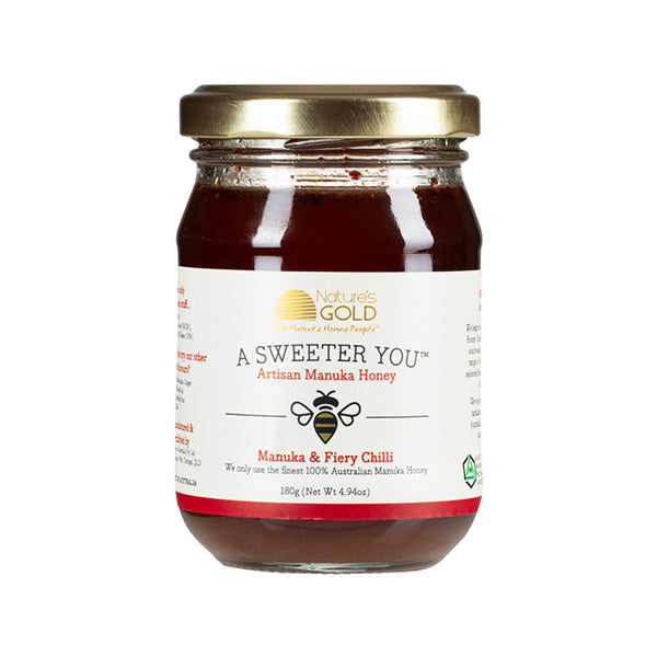 AUSTRALIAN MANUKA HONEY AND CHILLI 140g, 180g & 330g