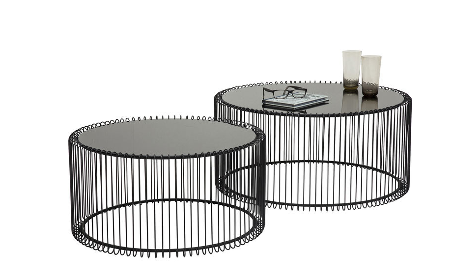 Coffee Table Wire Black (2/Set)