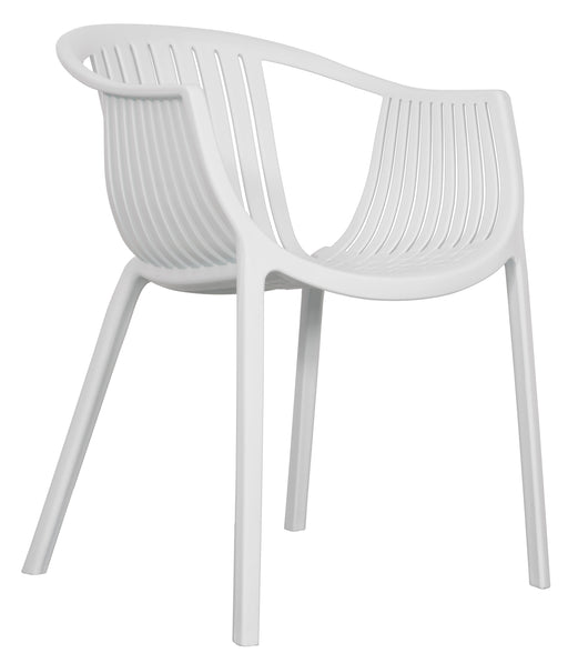 white outdoor armchair