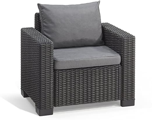Grey outdoor armchair