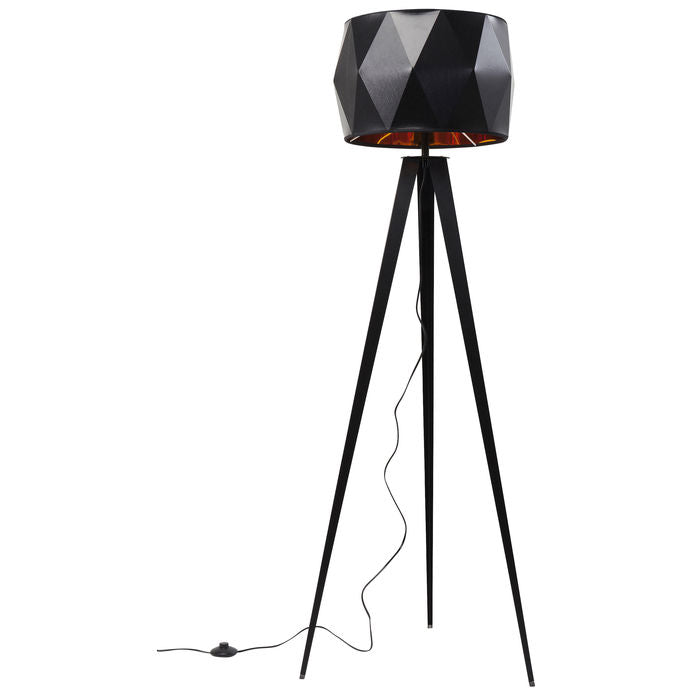 Floor Lamp Stright Tripod Matt Black