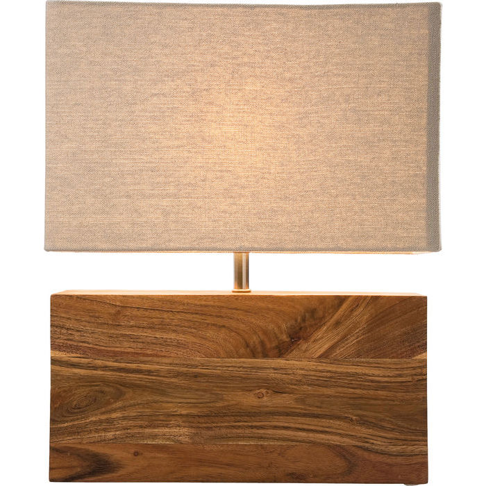Table Lamp Rectangular Wood Nature