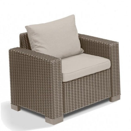 brown outdoor armchair