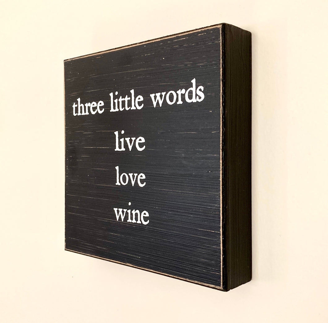 Live Love Wine Wall Decor - Shooting Starz Shopette
