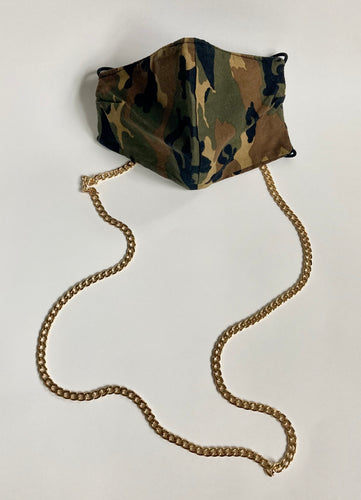 Gold-Plated Cuban Link Mask Chain - Shooting Starz Shopette