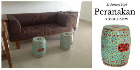 Peranakan ceramic stool