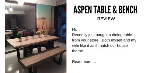 Aspen table bench review