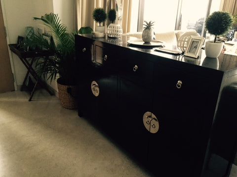 Chinese sideboard black
