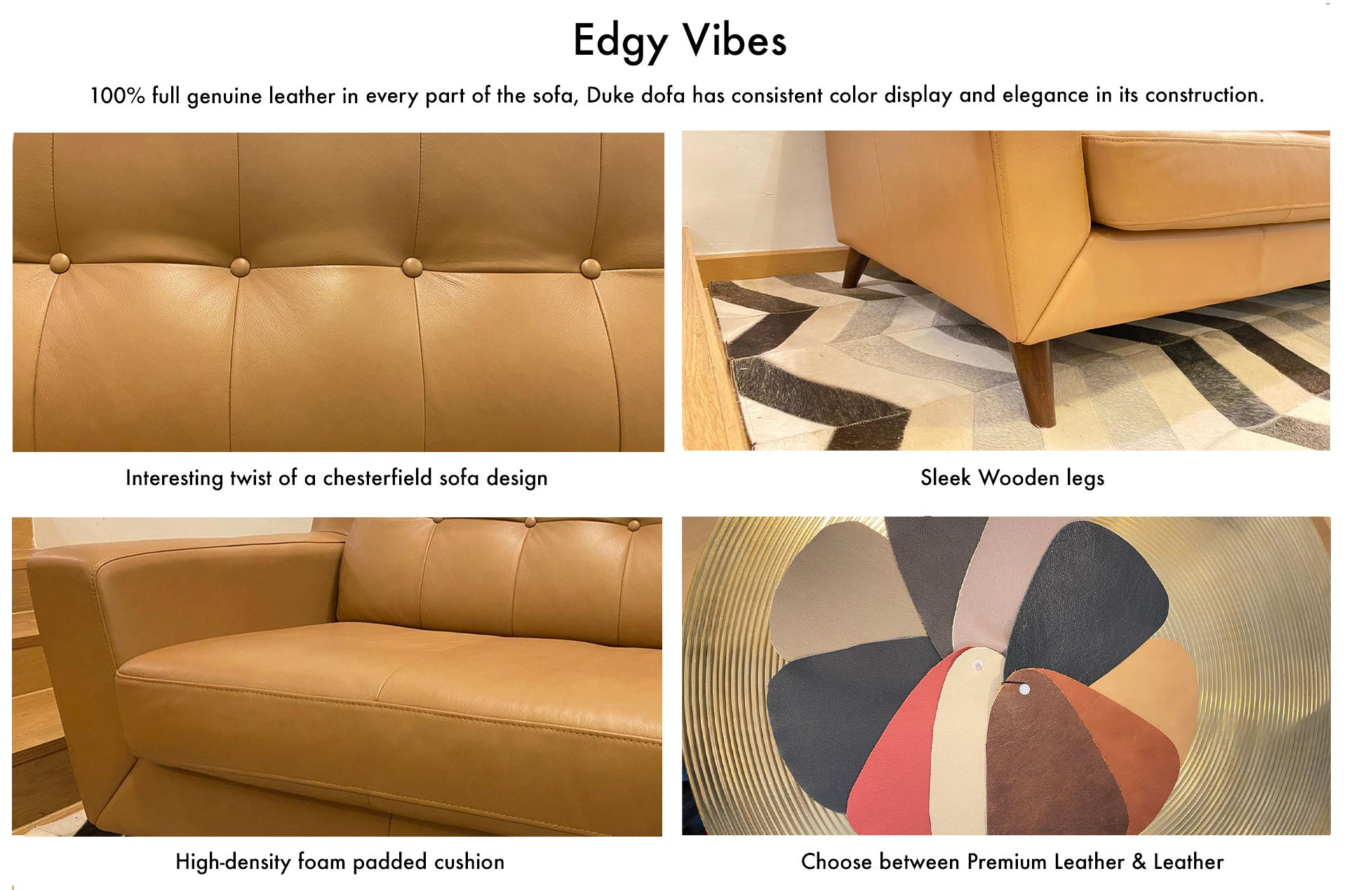 Sofa singapore Brown Leather online furniture