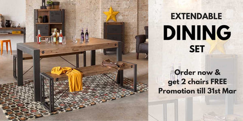 City Extendable Dining Set Promotion