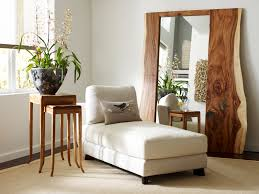 Furniture in front of mirror