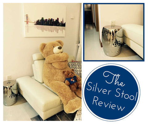 Silver ceramic stool review