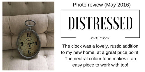 Distressed clock