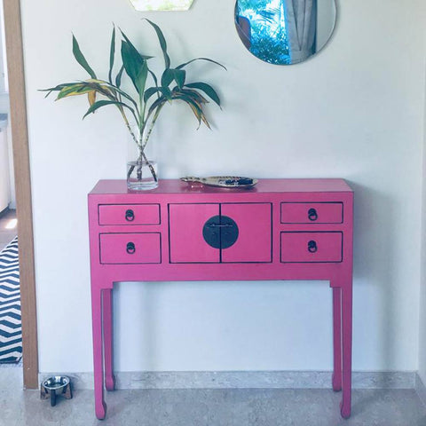 Pink Chinese Console