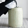 Aquamarine Stripe Stool