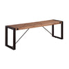 Acacia Wood Dining Bench with Industrial Look